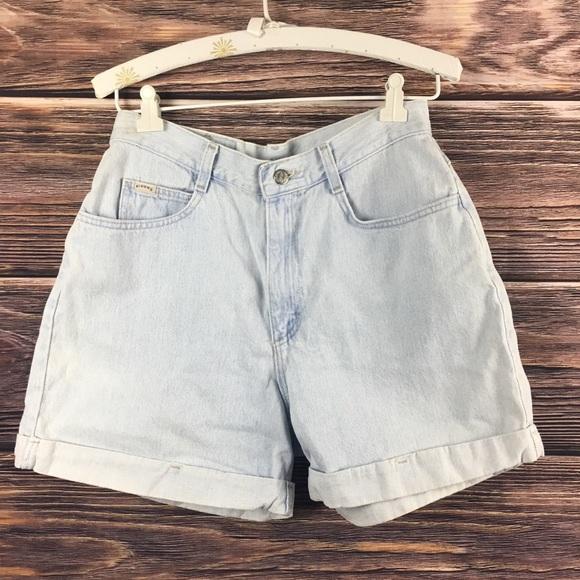 Lee Pants - Vintage Highwasted Denim Jean CutOff Cuffed Shorts